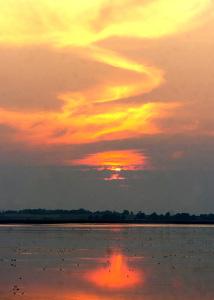 Solnedgång vid Glänås